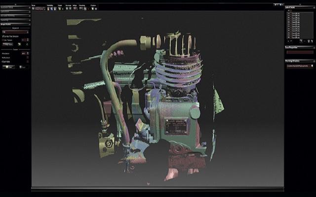 3D-skannattu moottori VXelementsissä
