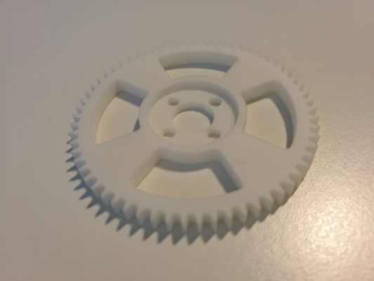 3D-tulostettu hammasratas
